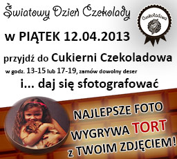 Szczecin. Promocje. Światowy Dzień Czekolady [12.04.2013] w Cukierni Czekoladowej w Szczecinie z konkursem na pyszne czekoladowe foto