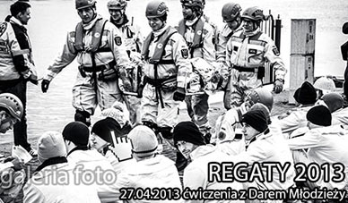 Szczecin. Fotoreportaż. 27.04.2013. Ćwiczenia REGATY 2013 z udziałem STS Dar Młodzieży