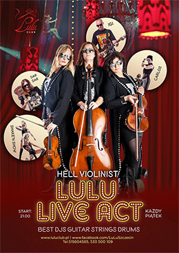 ARCHIWUM. Szczecin. Imprezy. 02.05.2014. Hell Violinist Inspired by Music @ Lulu Club