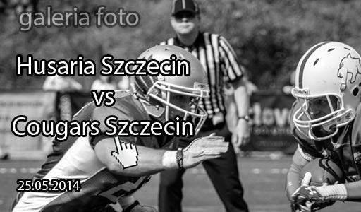 Szczecin. Fotoreportaż. 25.05.2014. Mecz Futbolu Amerykańskiego. DERBY SZCZECINA:  Husaria Szczecin vs Cougars Szczecin w obiektywie