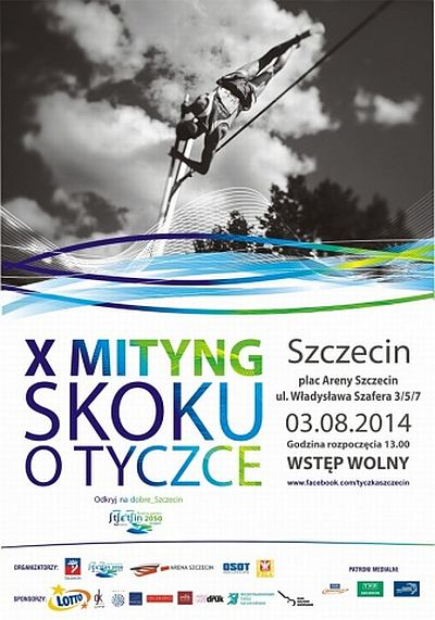 ARCHIWUM. Szczecin. SPORT. Imprezy. 03.08.2014. X Mityng Skoku o Tyczce @ Plac Areny Szczecin