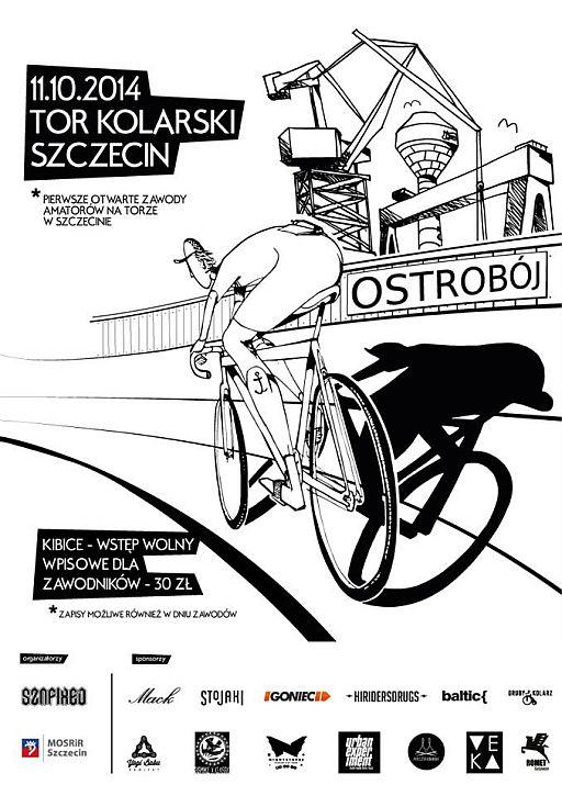 ARCHIWUM. Szczecin. SPORT. Wydarzenia. 11.10.2014. OSTROBÓJ – Pierwsze Otwarte Zawody Amatorów na Torze @ Tor Kolarski