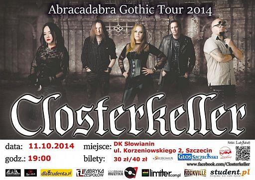 ARCHIWUM. Szczecin. Koncerty. 11.10.2014. Closterkeller Abracadabra Ghotic Tour 2014 @ Dom Kultury Słowianin