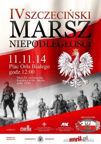 ARCHIWUM. Szczecin. Wydarzenia. 11.11.2014. IV Szczeciński Marsz Niepodległości