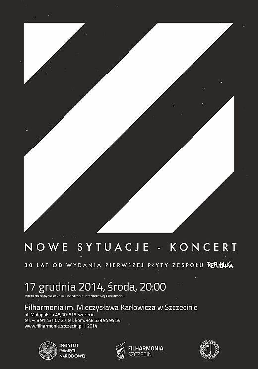 ARCHIWUM. Szczecin. Koncerty. 17.12.2014. Republika – Nowe Sytuacje @ Filharmonia Szczecińska