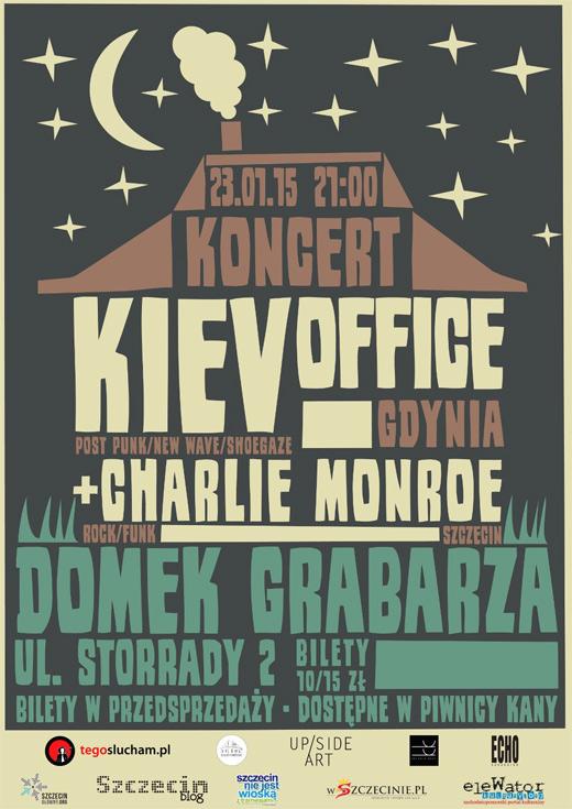 ARCHIWUM. Szczecin. Koncerty. 23.01.2015. Kiev Office + Charlie Monroe @ Domek Grabarza