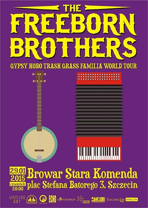 ARCHIWUM. Szczecin. Koncerty. 29.01.2015. The Freeborn Brothers @ Browar Stara Komenda