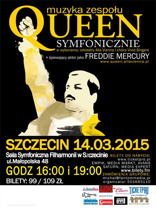 ARCHIWUM. POLECAMY! Szczecin. Koncerty. 14.03.2015. Muzyka zespołu Queen Symfonicznie @ Filharmonia Szczecińska