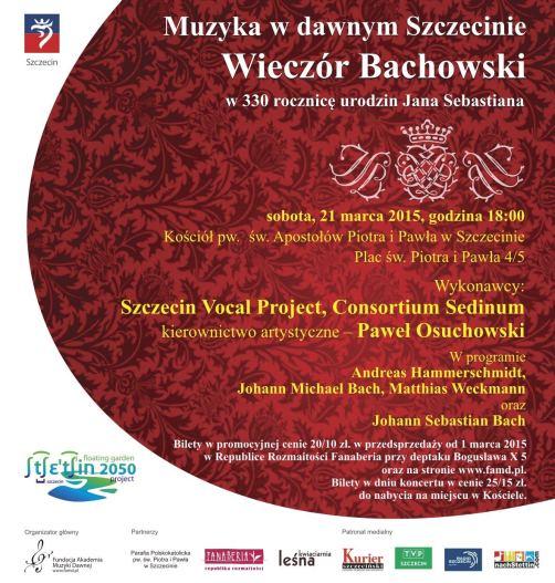 Szczecin, koncert, koncerty w Szczecinie, wieczór Bachowski, kierunek Szczecin, weekend, w Szczecinie