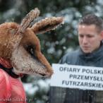 28.11.2015. Happening Ogólnopolski Dzień bez Futra w Szczecinie