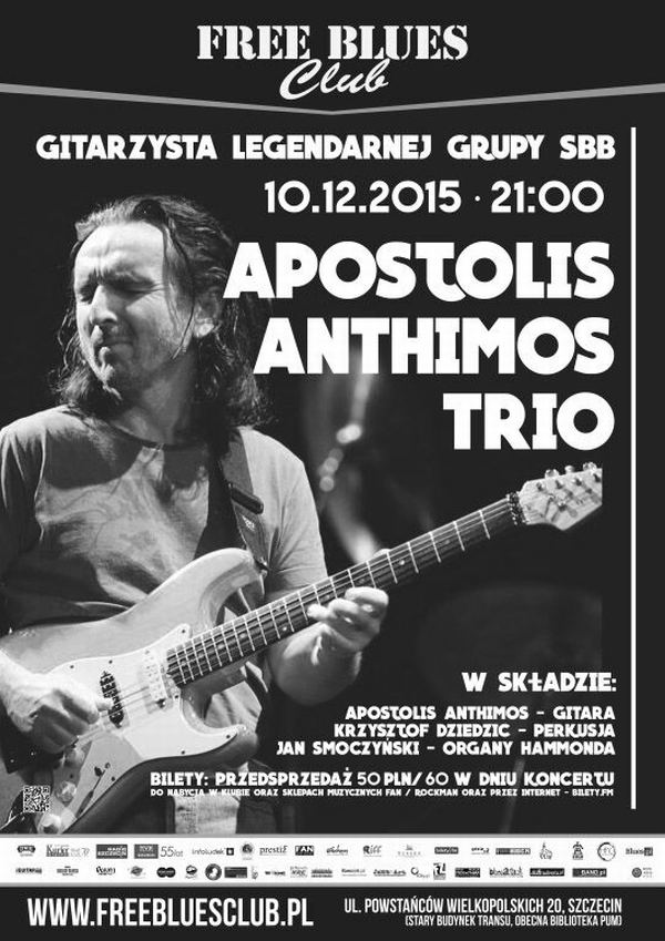 ARCHIWUM. Szczecin. Koncerty. 10.12.2015. Apostolis Anthimos Trio @ Free Blues Club