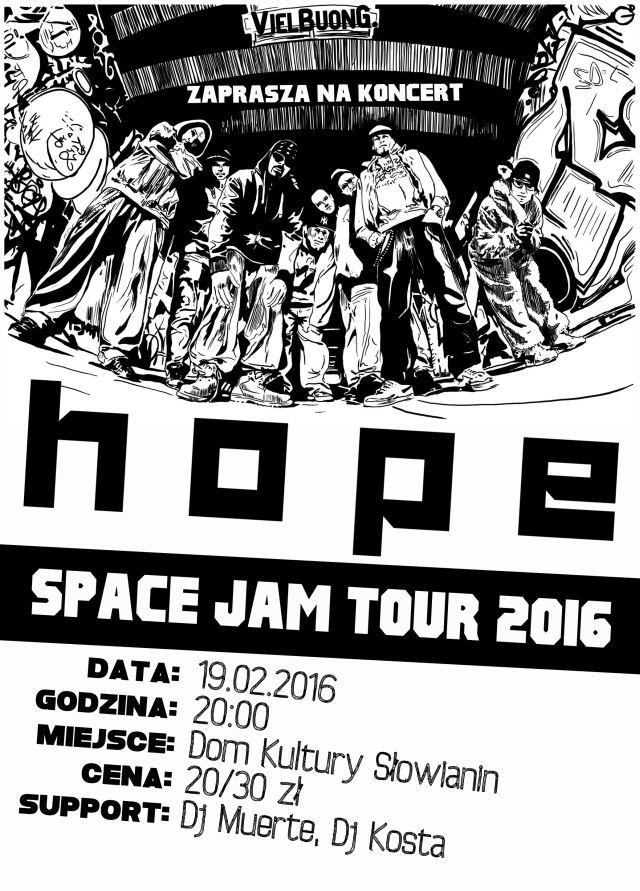 19.02.2016 spacje jam 2016 tour - koncert HOPE w Szczecinie
