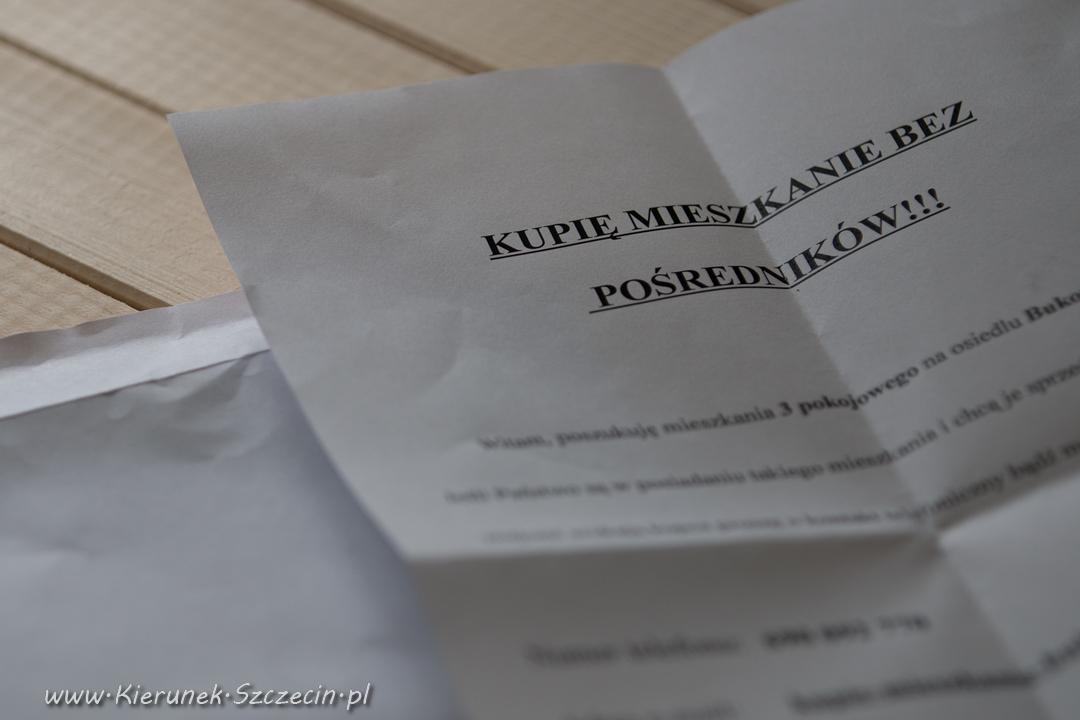 Szczecin. Informacje. Kwiecień 2016. Pan Rafał szuka mieszkania na osiedlu Bukowym w Szczecinie