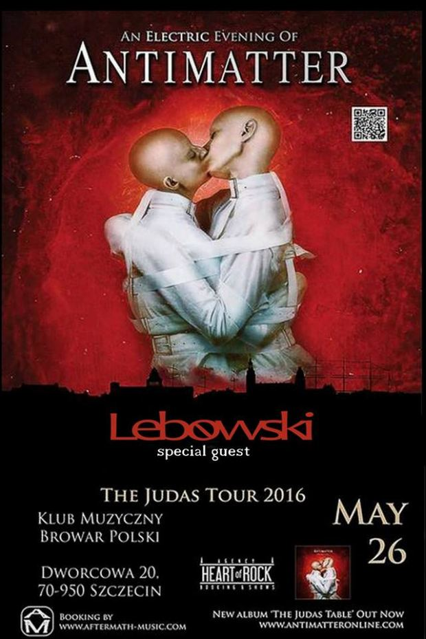 ARCHIWUM. Szczecin. Koncerty. 26.05.2016. Antimatter – The Judas Tour 2016 @ Browar Polski