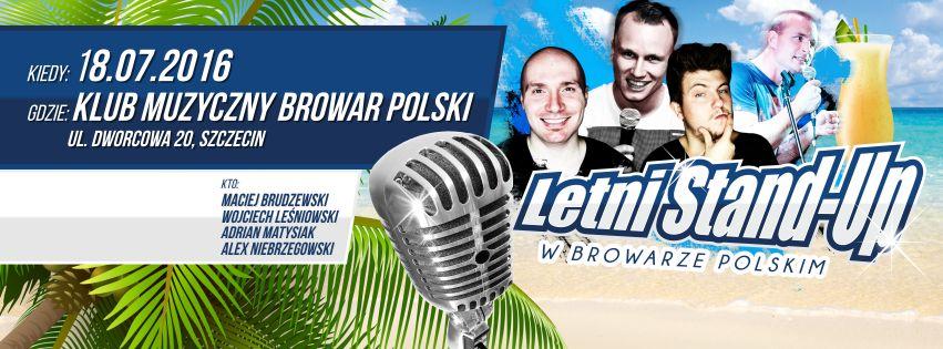 18.07.2016 Letni Stand Up, Browar Polski