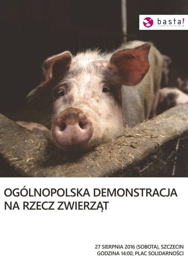 ARCHIWUM. Szczecin. Wydarzenia. 27.08.2016. Ogólnopolska demonstracja na rzecz praw zwierząt @ Plac Solidarności