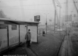 Szczecin na co dzień 14.01.2017, ul. Wyszyńskiego przystanek tramwajowy
