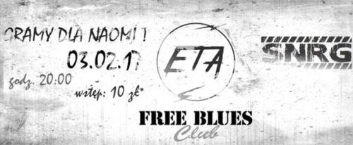 ARCHIWUM. Szczecin. Koncerty. 03.02.2017. Gramy dla Naomi: ETA + Synergia @ Free Blues Club