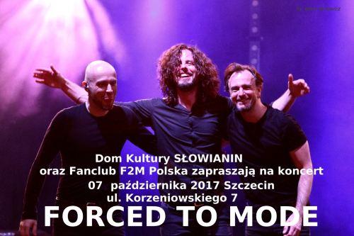 07.10.2017 koncert Forced to Mode w Szczecinie