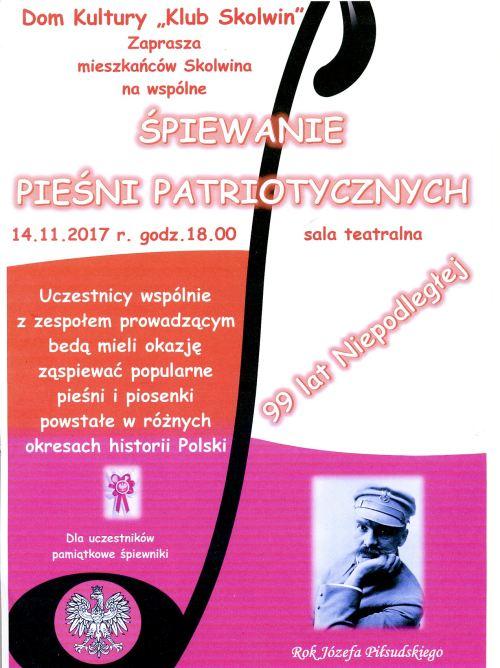 14.11.2017 koncert pieśni patriotycznych