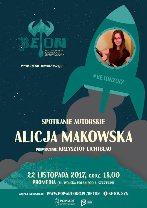 22.11.2017 Alicja Makowska, spotkanie autorskie