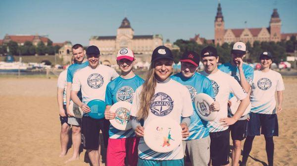zajecia ulitimate frisbee, Szczecin Wyspa Grodzka