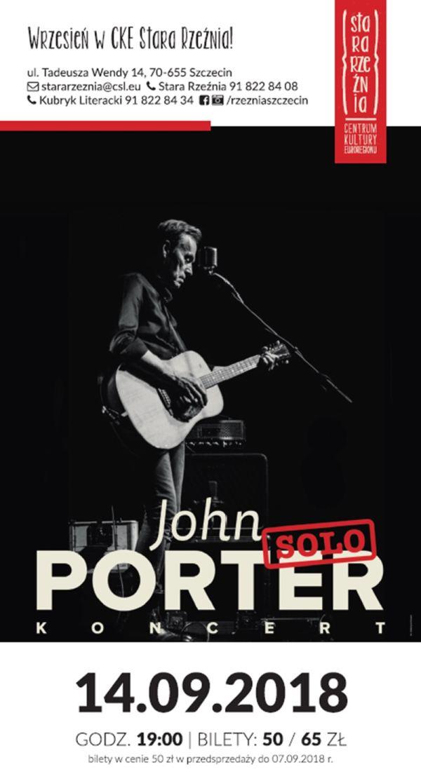 14.09.2018 John Porter Solo, koncert w Szczecinie