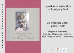 21.09.2018 spotkanie autorskie z Krystyną Pohl