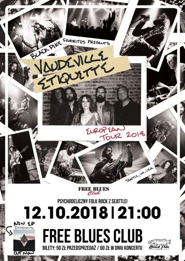 ARCHIWUM. Szczecin. Koncerty. ♪ 12.10.2018. Vaudeville Etiquette @ Free Blues Club