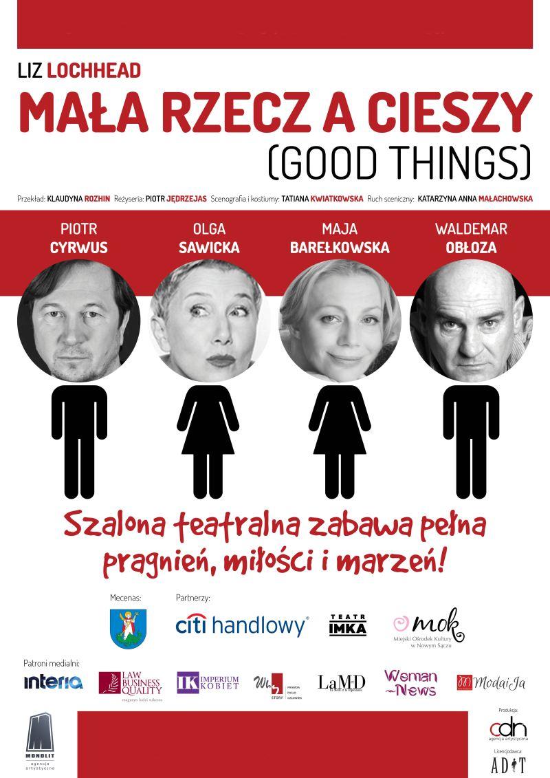 ARCHIWUM. POLECAMY! Szczecin. Teatr. 29.10.2018. Spektakl – Mała rzecz a cieszy @ Teatr Polski