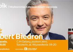 27.11.2018 spotkanie autorskie z Robertem Biedroniem, Szczecin