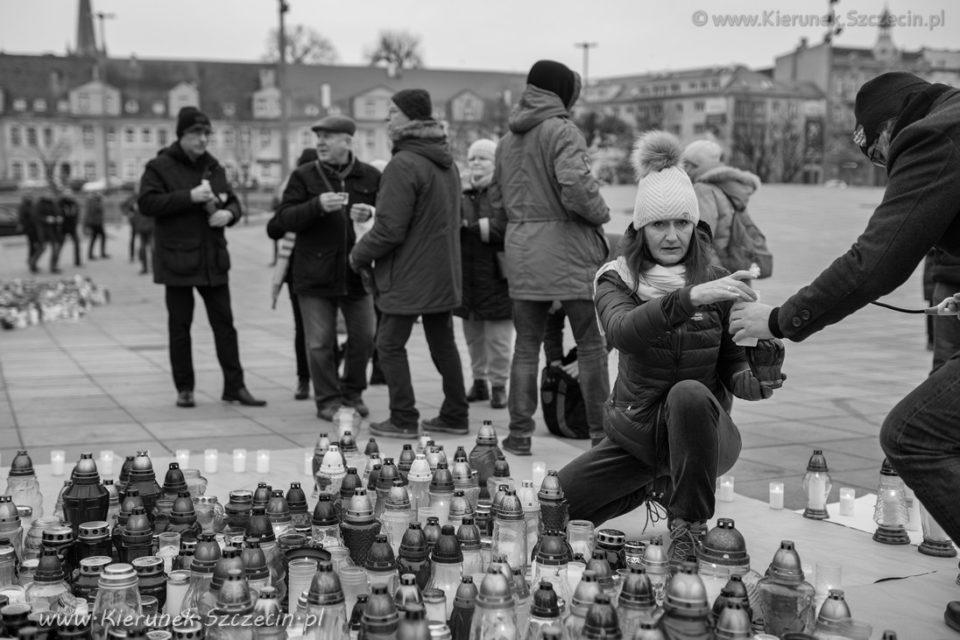 Szczecin. FOTOREPORTAŻ. 19.01.2019. Ostatnie pożegnanie z Prezydentem Gdańska – ŚP. Pawłem Adamowiczem w Szczecinie @ Plac Solidarności