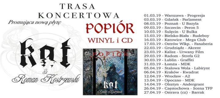 ARCHIWUM. Szczecin. Koncerty. 09.03.2019. KAT & Roman Kostrzewski – POPIÓR tour 2019 @ Peron 5