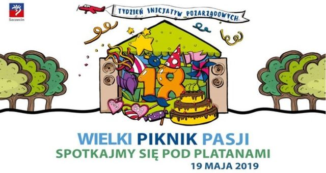 ARCHIWUM. Szczecin. Wydarzenia. 19.05.2019. Wielki piknik Pasji – XVIII Spotkanie Organizacji Pozarządowych Pod Platanami @ Jasne Błonia