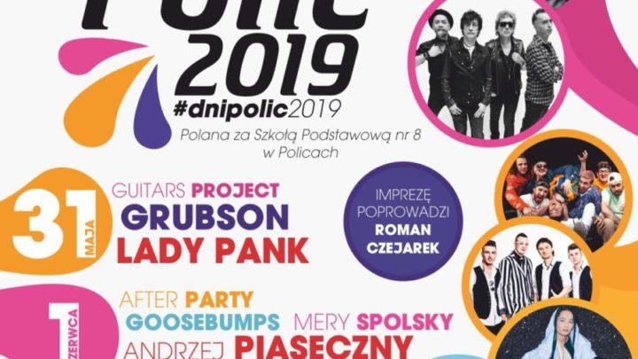 ARCHIWUM. Police. Imprezy. Koncerty. 31.05-01.06.2019. Dni Polic 2019 @ Police ul. Piaskowa