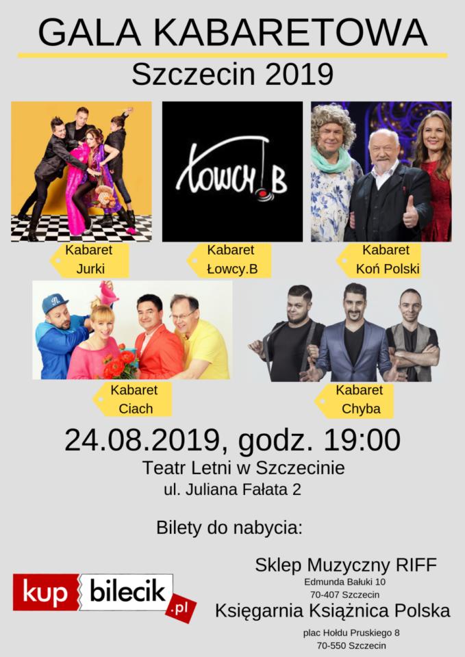 POLECAMY! Szczecin. Imprezy. Wydarzenia. 24.08.2019. Gala Kabaretowa - Szczecin 2019  @ Teatr Letni /Amfiteatr