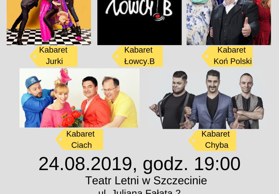 ARCHIWUM. POLECAMY! Szczecin. Imprezy. Wydarzenia. 24.08.2019. Gala Kabaretowa – Szczecin 2019  @ Teatr Letni /Amfiteatr