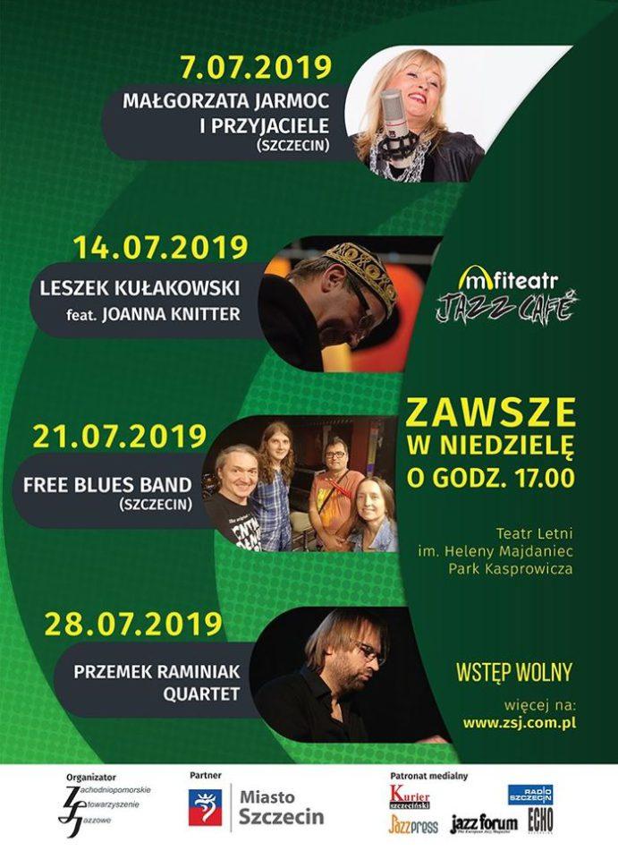 Amfiteatr Jazz Cafe 2019, program koncertów w Szczecinie