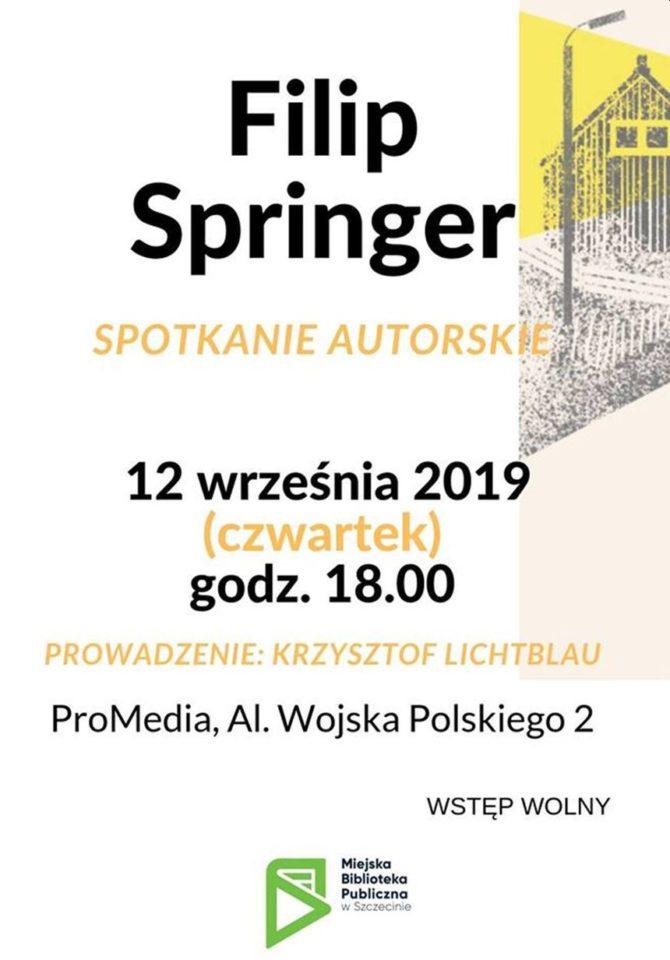 12.09.2019 spotkanie autorskie z Filipem Springerem