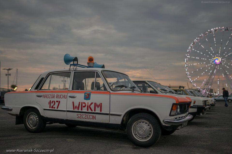12.07.2019 Szczecin na co dzień - Szczecin, Łasztownia, klasyk, samochód, Szczecin eye, diabelski młyn, nadzór ruchu, dużu fiat, 125p