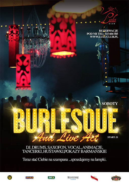 ARCHIWUM. Szczecin. IMPREZY. 13.12.2014. Burlesque and Live Act @ Lulu Club