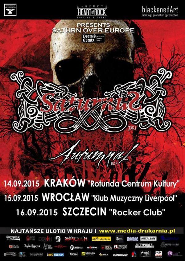 szczecin, koncerty w szczecinie, kierunek szczecin, Saturnus, Autumnal, rocker club, 16.09.2015