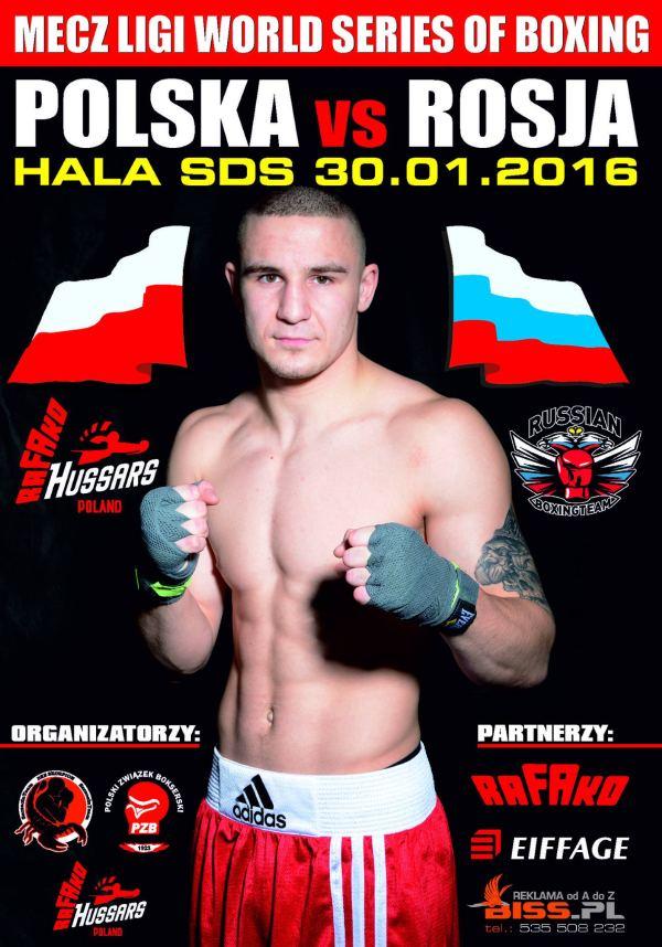 30.01.2016 mecz bokserski Polska - Rosja World Series of Boxing w Szczecinie